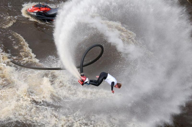 waterskiën, wakeboarden en flyboarden