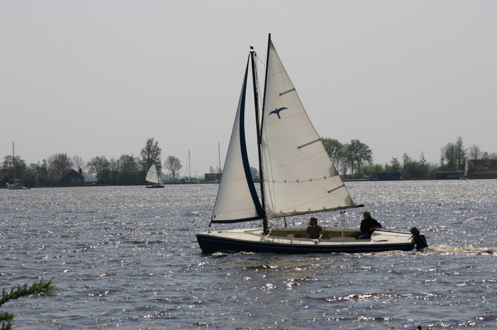 valk: ruime en sportieve open zeilboot